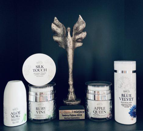 """Nagroda """"Twórcy Piękna 2019"""" dla Bartos Cosmetics - Marka Bartos Cosmetics wygrywa w plebiscycie Twórcy Piękna 2019"""
